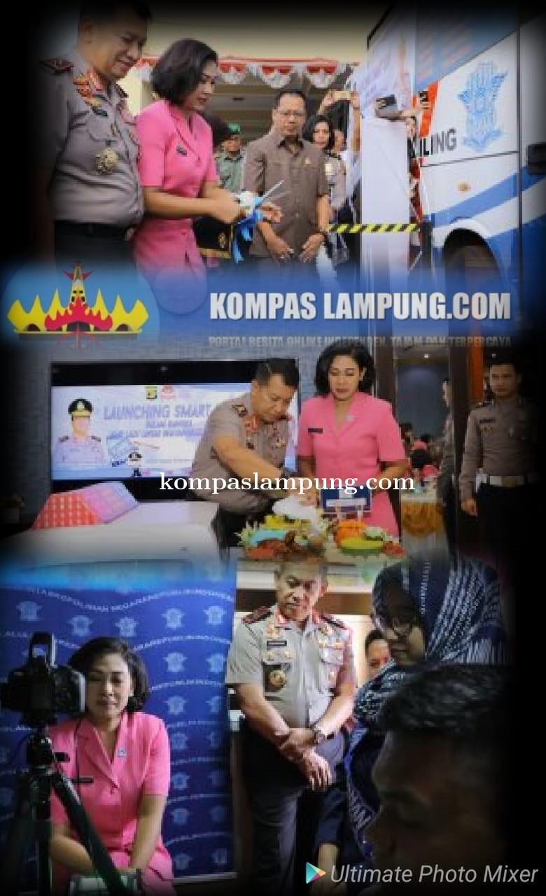 Polda Lampung Resmikan Launching Smart SIM