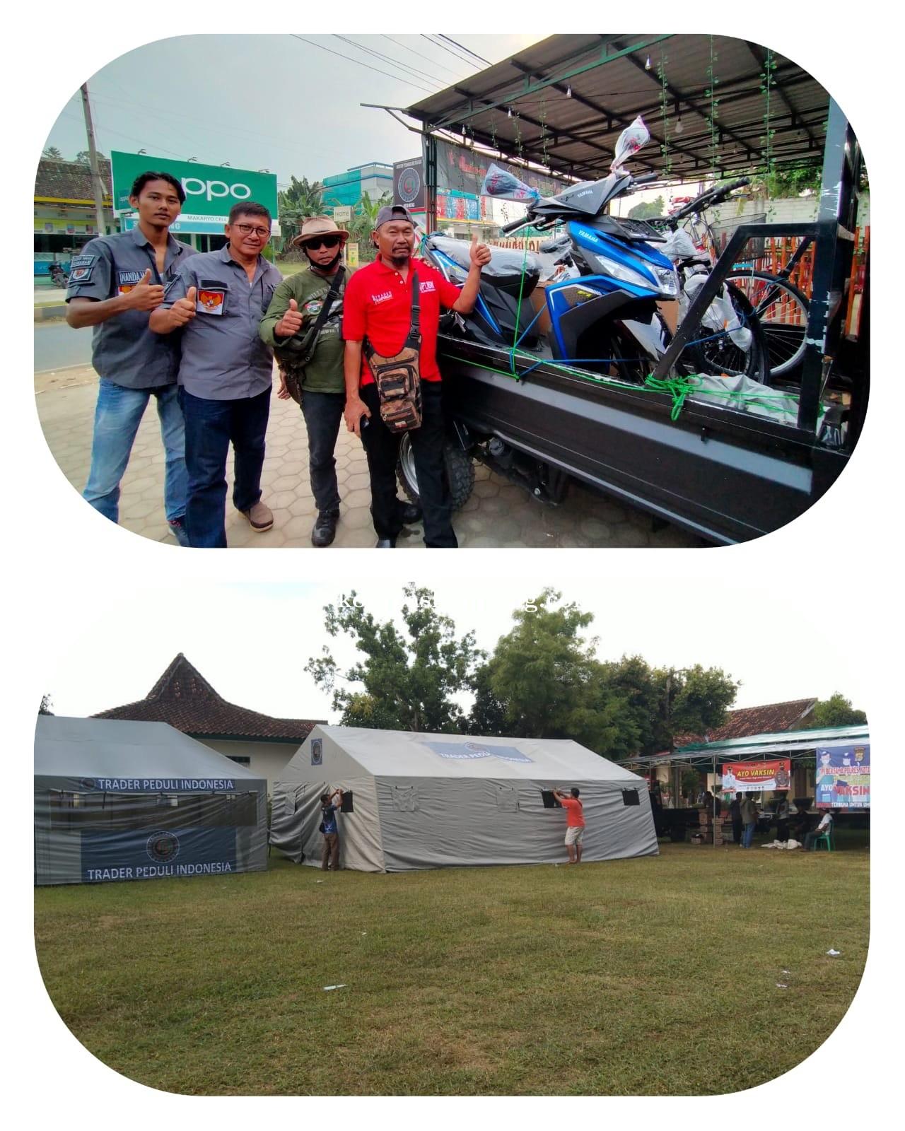 Polres, Trader Peduli Indonesia dan Kecamatan Metro Utara Gelar Vaksinasi Gratis Berhadiah Motor