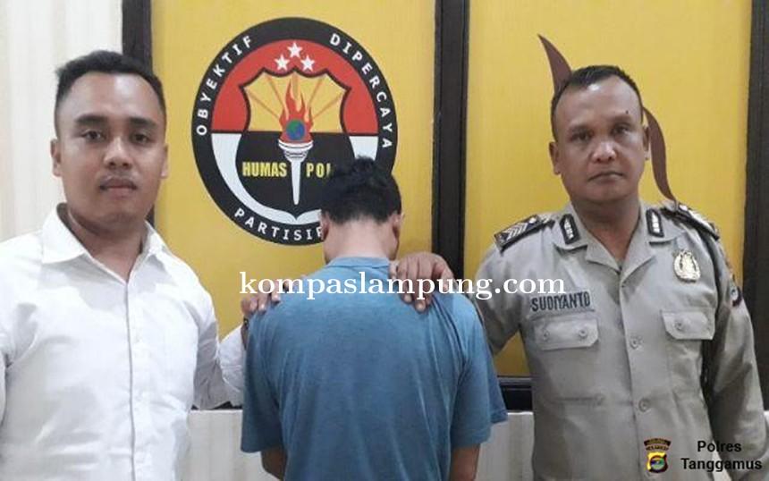 Seorang Penyalahguna Sabu di Pringsewu Ditangkap Satres Narkoba Polres Tanggamus