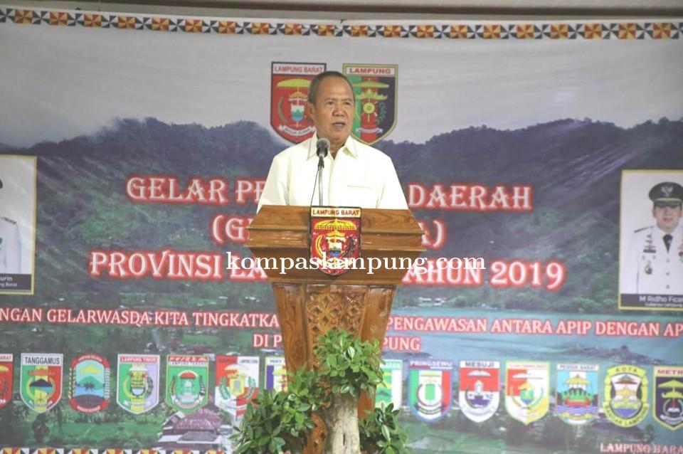 Wagub Bachtiar Basri Buka Gelarwasda Kabupaten/Kota Se-Provinsi Lampung