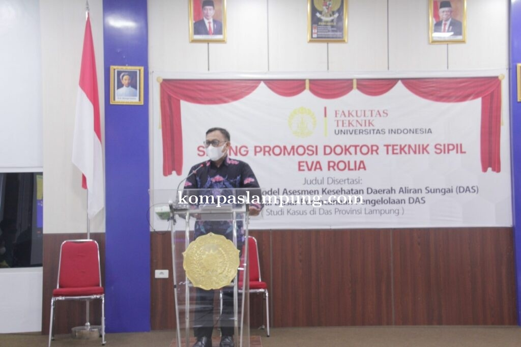 Wakil Walikota Metro Hadiri Sidang Promosi Doktor Teknik Sipil