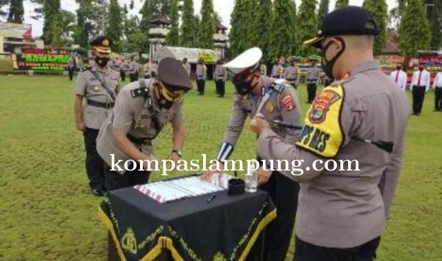 Jabatan Kabag Ops Polres Lampung Utara Di Serah Terimakan