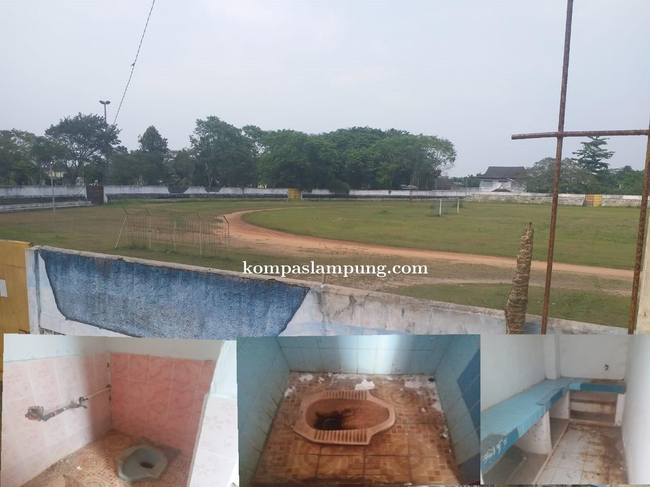 Stadion Tejo Sari Kota Metro Jadi Sarang Laba-Laba