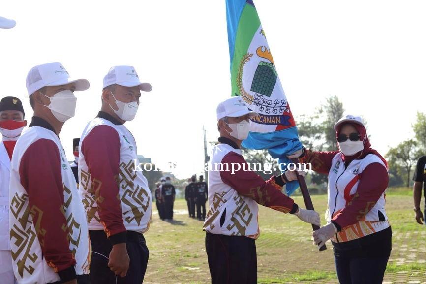 Bupati Sujadi Melepas Atlet Pringsewu Berlaga di PON Papua 2021