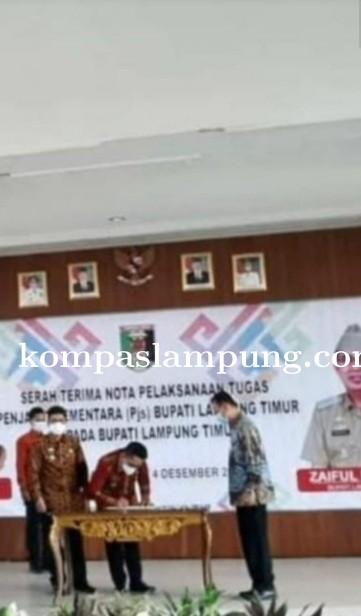 Zaiful Bokhari Kembali Menjabat Sebagai Bupati Lampung Timur