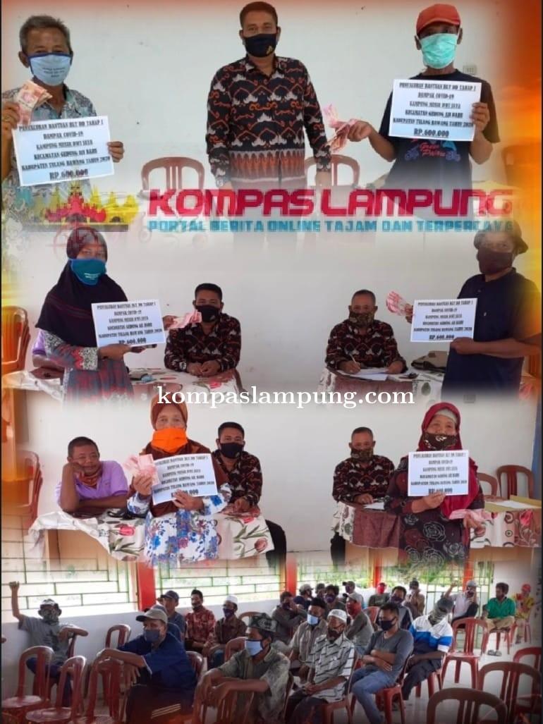 Desa Mesir Dwi Jaya Tuba Salurkan BLT Pada Masyarakat Tidak Mampu Dan terdampak Covid-19