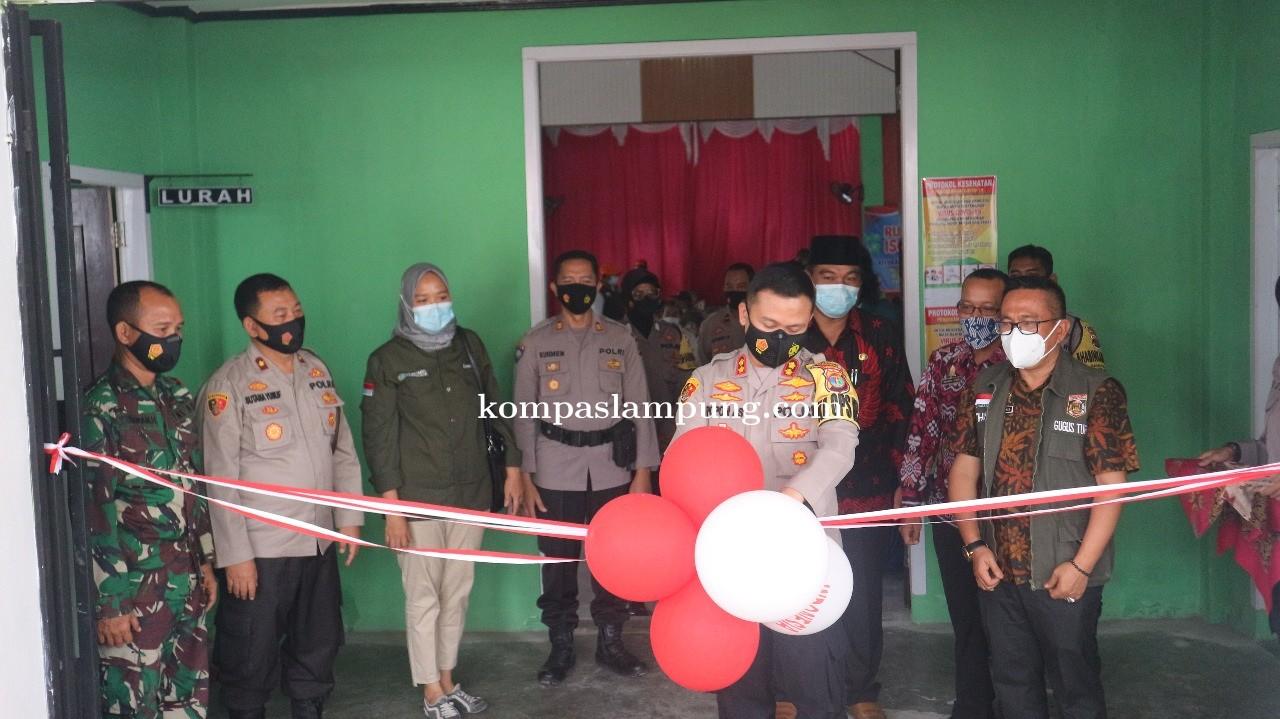 Kapolres Lakukan Launching, Pembinaan,  Serta Pengecekan Sarana Prasarana Kampung Tangguh Nusantara