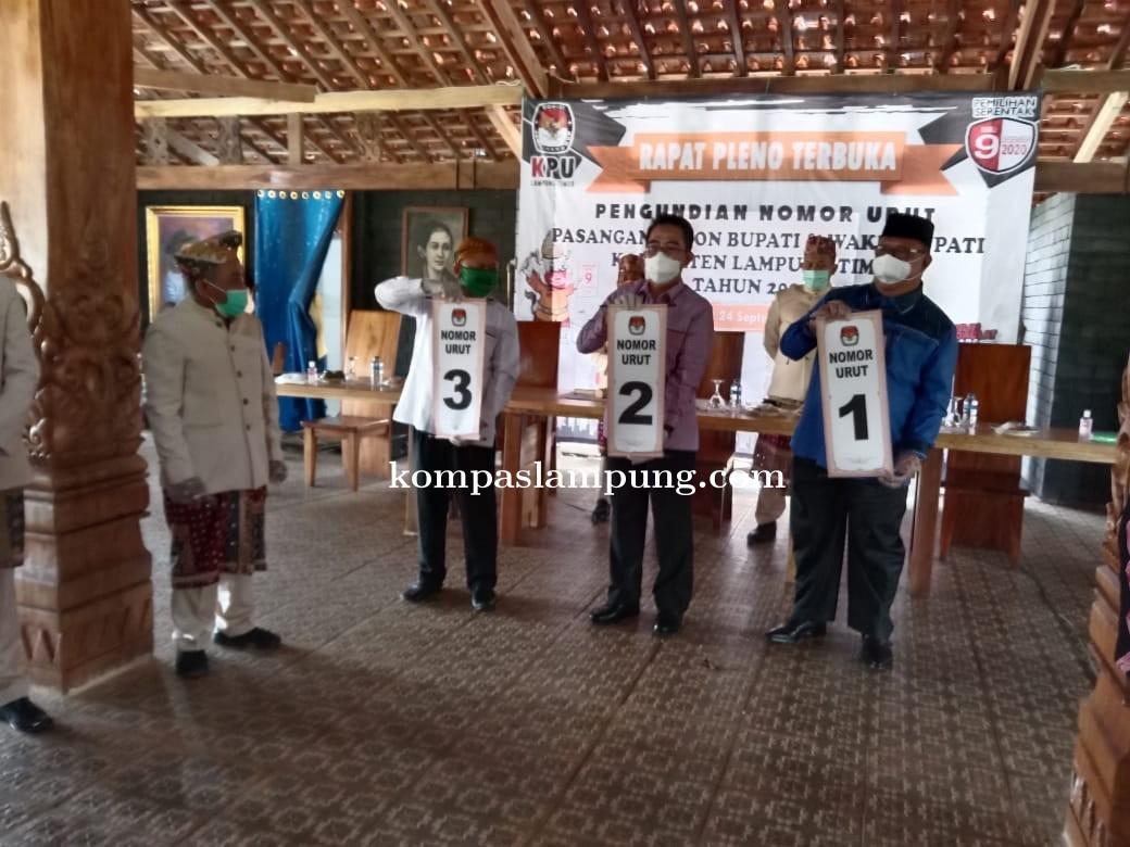 KPU Kabupaten Lam-Tim Laksanakan Pengundian Nomor Urut Bakal Calon Bupati